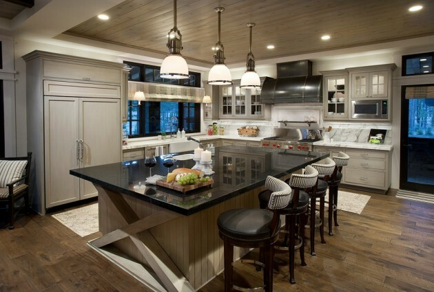 7 Black And White Kitchens For Any Taste - Articles about Furniture and Furnishing 3 by  image