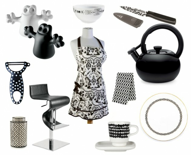 7 Black And White Kitchens For Any Taste - Articles about Furniture and Furnishing 9 by  image