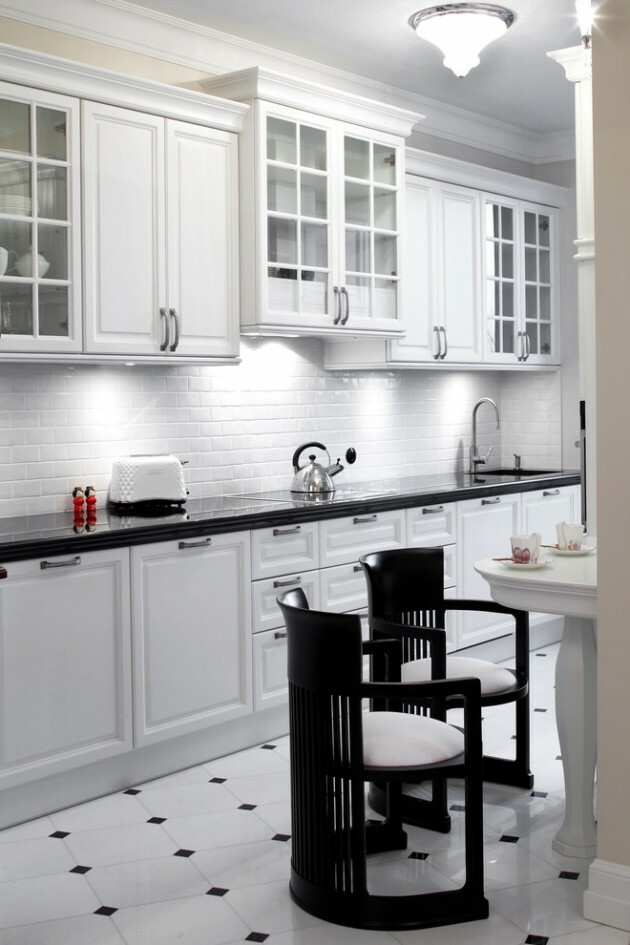 7 Black And White Kitchens For Any Taste - Articles about Furniture and Furnishing 1 by  image