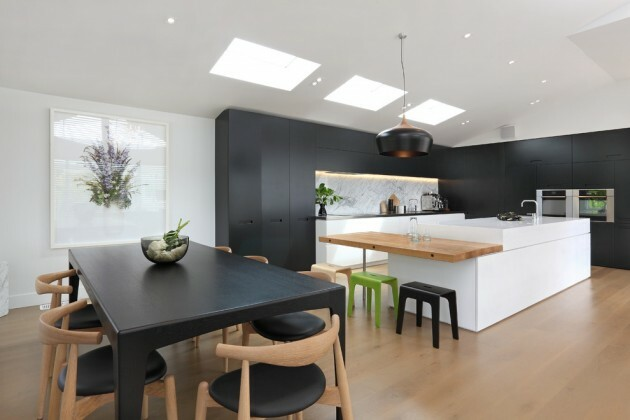 7 Black And White Kitchens For Any Taste - Articles about Furniture and Furnishing 8 by  image