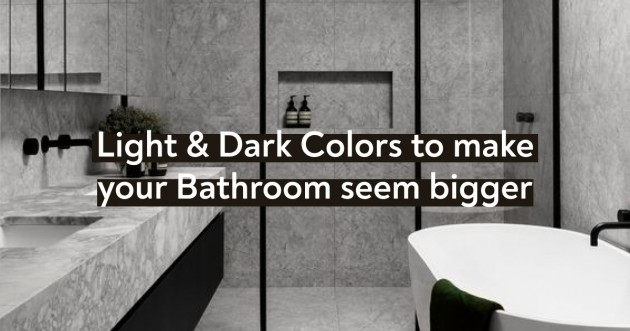 Light & Dark Colors to make your Bathroom seem bigger - Articles about Apartments 1 by  image