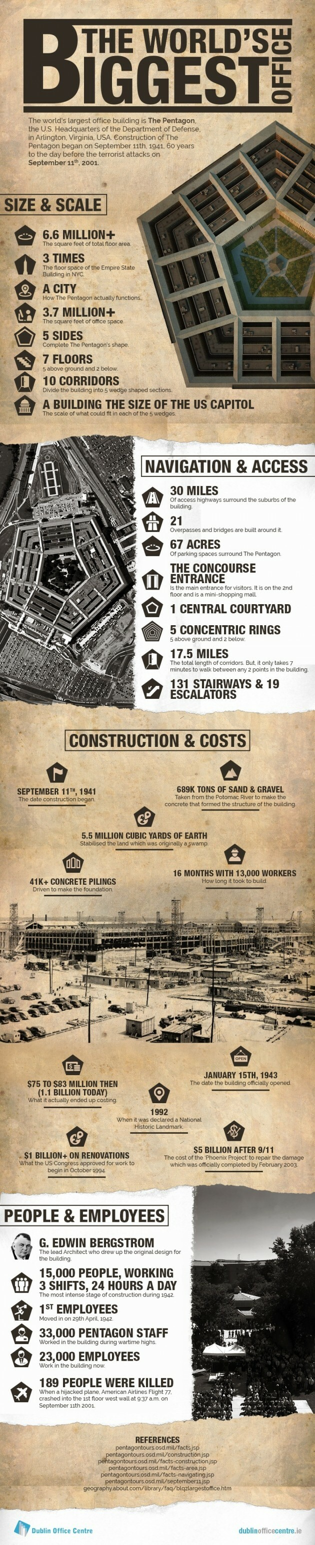 Surprising Facts about The Largest Office in the World: Pentagon - Articles about Apartments 1 by  image