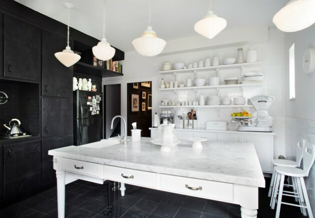 7 Black And White Kitchens For Any Taste - Articles about Furniture and Furnishing 5 by  image