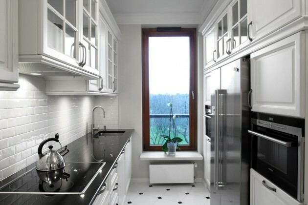 7 Black And White Kitchens For Any Taste - Articles about Furniture and Furnishing 2 by  image