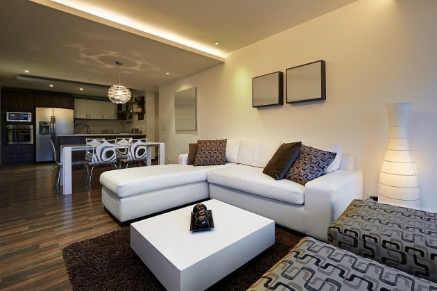 Decoration Ideas for Clutter – Free Living Room - Articles about Apartments 3 by  image