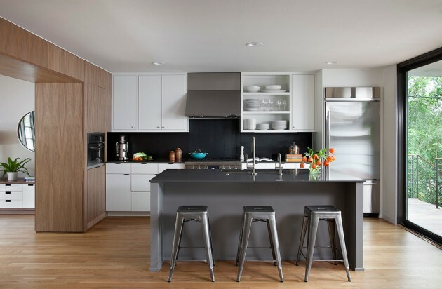 7 Black And White Kitchens For Any Taste - Articles about Furniture and Furnishing 4 by  image
