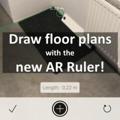 Planner 5D AR Ruler with iOS 11's ARKit
