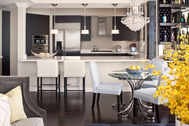 7 Black And White Kitchens For Any Taste - Articles about Furniture and Furnishing 6 by  image
