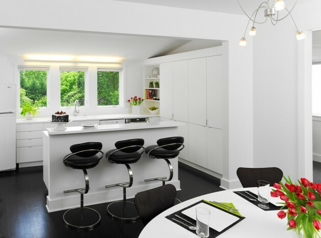 7 Black And White Kitchens For Any Taste - Articles about Furniture and Furnishing 7 by  image