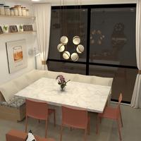 nuotraukos baldai dekoras apšvietimas valgomasis studija idėjos