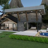 nuotraukos namas svetainė eksterjeras аrchitektūra idėjos