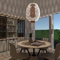 foto arredamento decorazioni illuminazione sala pranzo idee