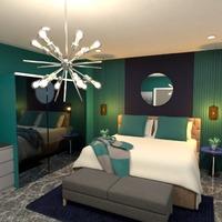 photos maison meubles décoration chambre à coucher eclairage idées