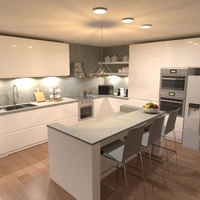 nuotraukos butas namas baldai dekoras virtuvė idėjos
