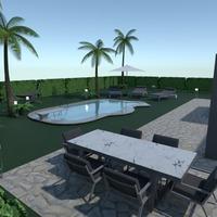 nuotraukos terasa baldai dekoras apšvietimas kraštovaizdis idėjos