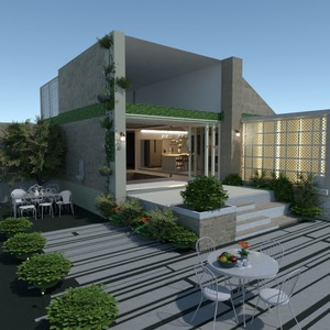 photos house terrace lighting landscape architecture ideas