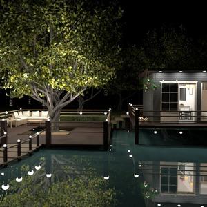 идеи дом терраса декор улица освещение идеи