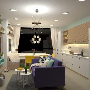 идеи декор кухня освещение столовая студия идеи