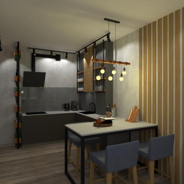 nuotraukos butas dekoras svetainė virtuvė studija idėjos