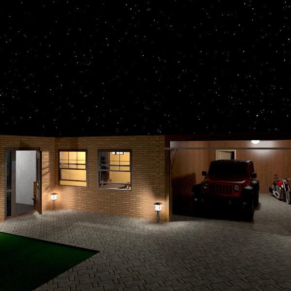 foto casa veranda garage oggetti esterni illuminazione idee