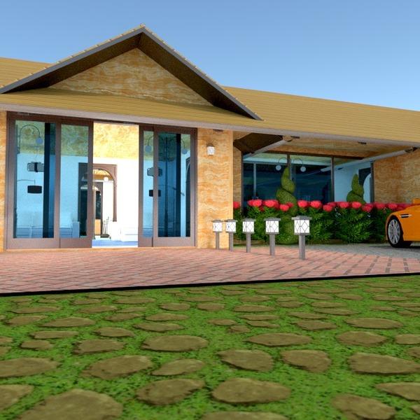 zdjęcia dom taras garaż oświetlenie architektura pomysły