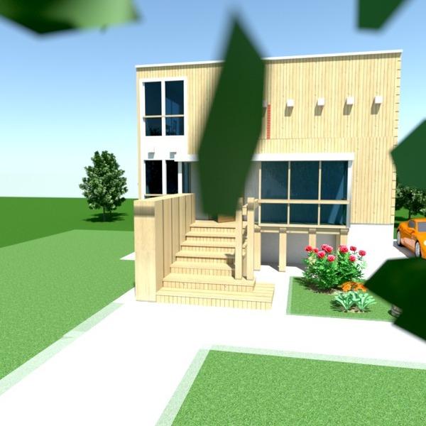 fotos casa garaje exterior paisaje arquitectura ideas