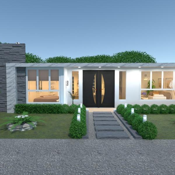 nuotraukos namas terasa svetainė virtuvė eksterjeras idėjos