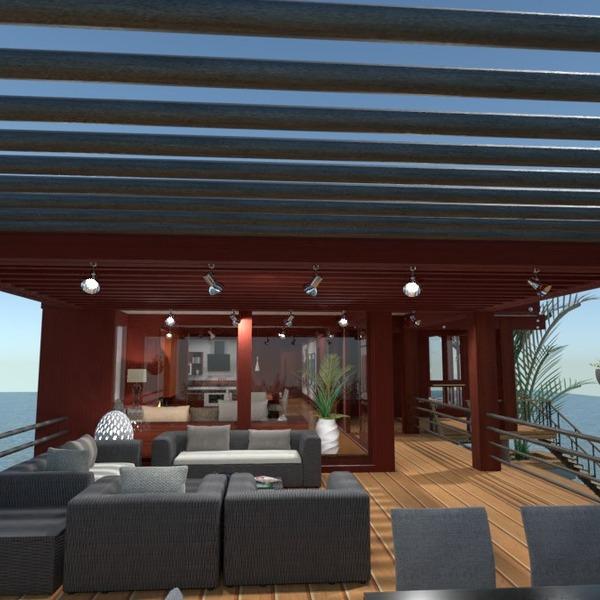 nuotraukos namas terasa baldai eksterjeras idėjos