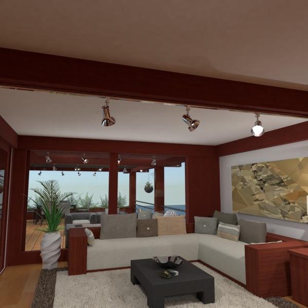 nuotraukos namas terasa svetainė eksterjeras kraštovaizdis idėjos
