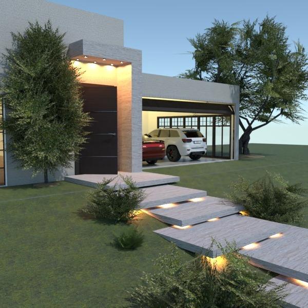foto casa garage oggetti esterni illuminazione paesaggio idee