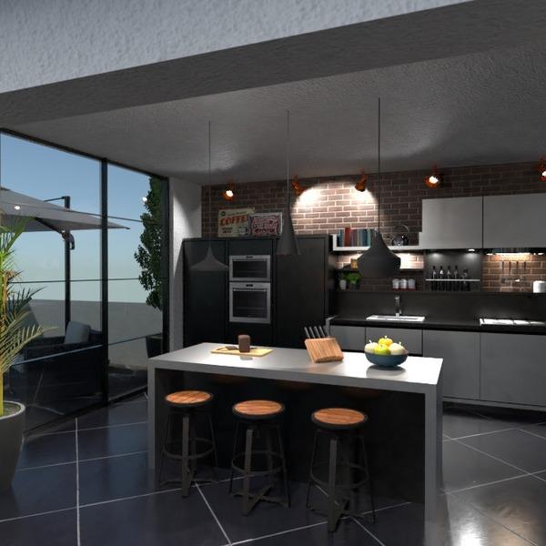 nuotraukos butas terasa baldai virtuvė idėjos