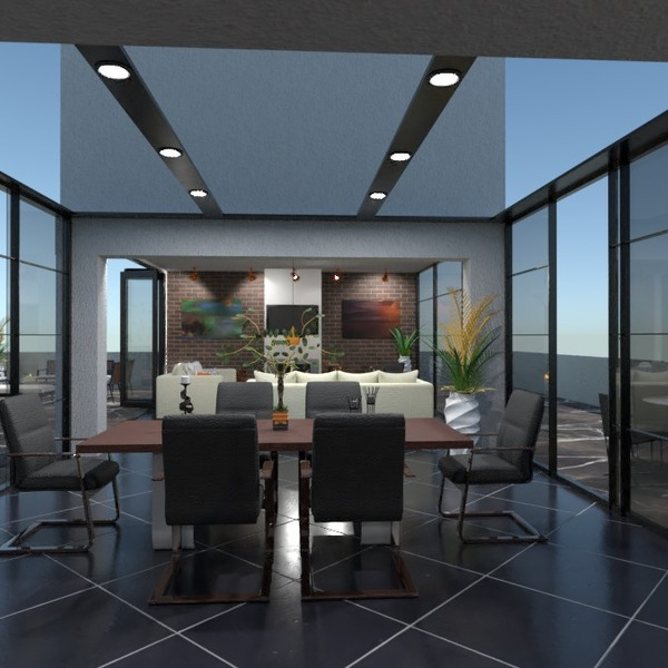 nuotraukos butas terasa baldai svetainė valgomasis idėjos