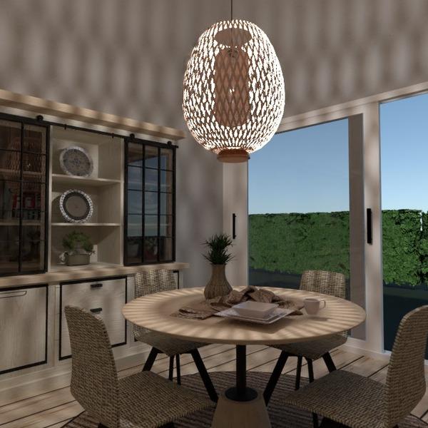 nuotraukos baldai dekoras apšvietimas valgomasis idėjos