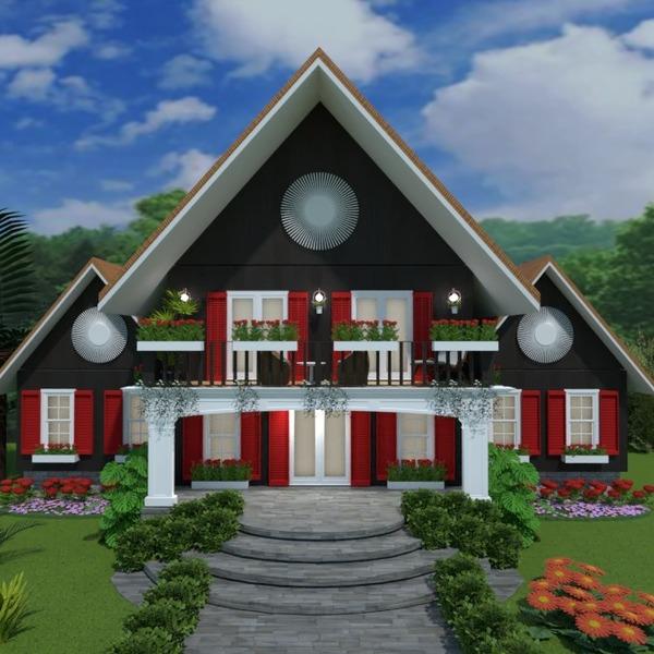 foto casa veranda decorazioni oggetti esterni illuminazione idee
