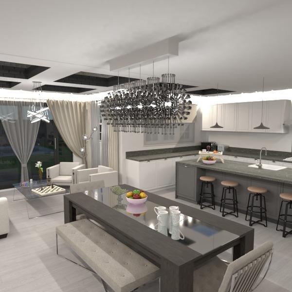 foto decorazioni saggiorno cucina illuminazione sala pranzo idee