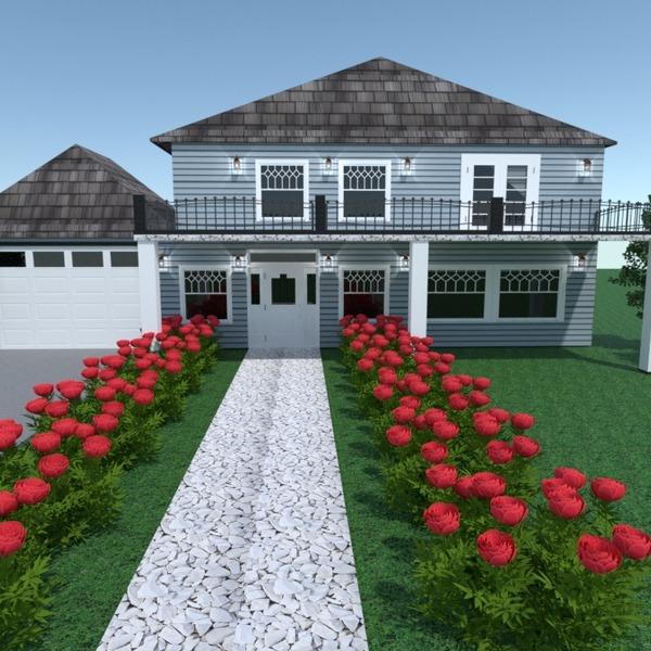 fotos casa garaje iluminación paisaje arquitectura ideas