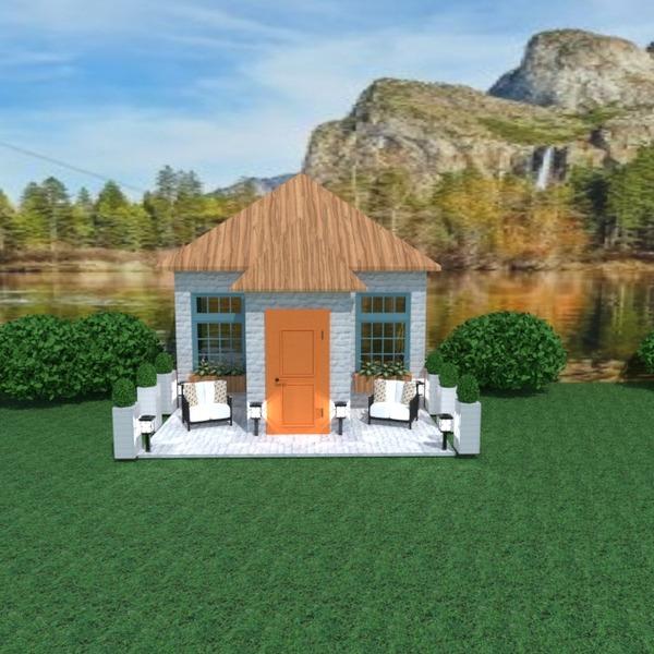 fotos casa terraza muebles iluminación paisaje arquitectura ideas