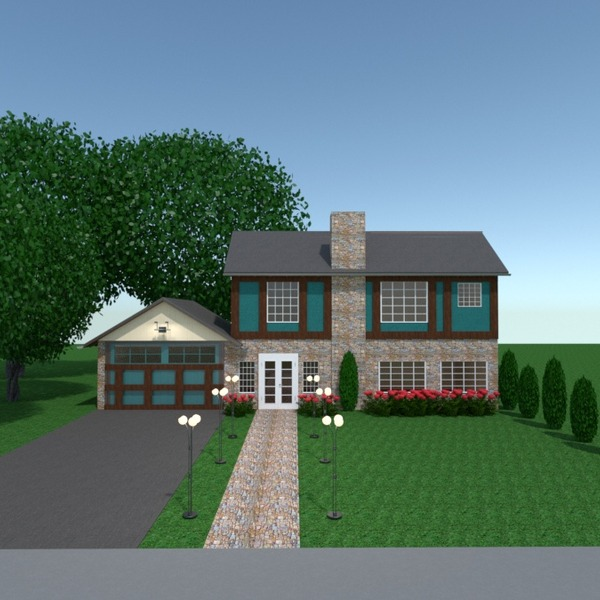 fotos casa garagem área externa iluminação paisagismo arquitetura ideias