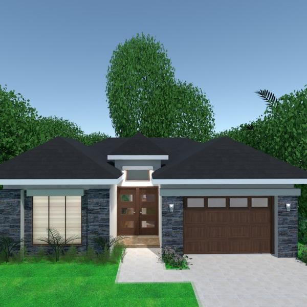 nuotraukos namas garažas kraštovaizdis idėjos