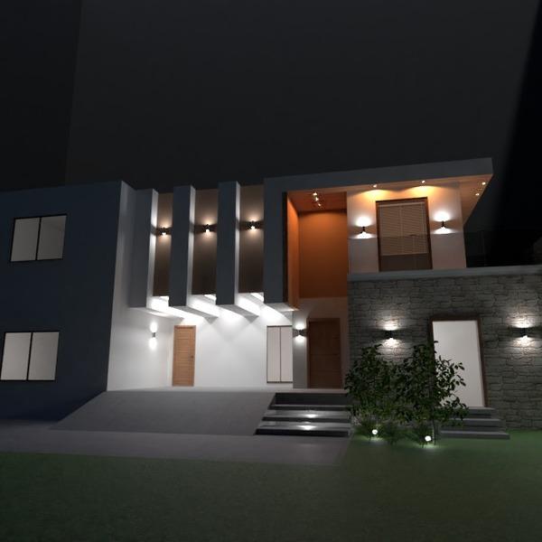 zdjęcia dom taras na zewnątrz oświetlenie wejście pomysły