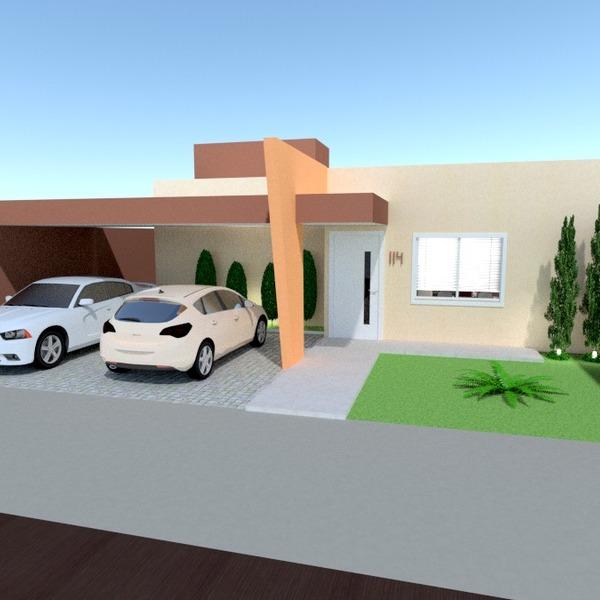 fotos casa garagem área externa iluminação paisagismo arquitetura patamar ideias
