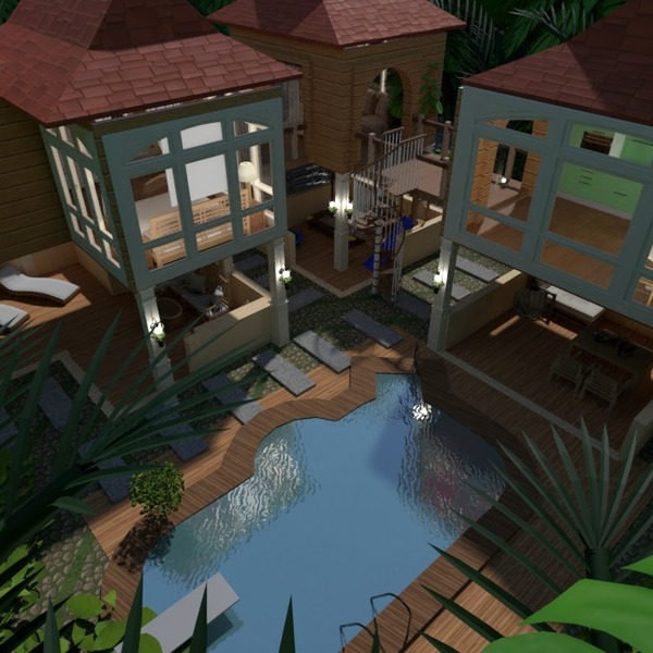 nuotraukos butas namas terasa eksterjeras kraštovaizdis idėjos
