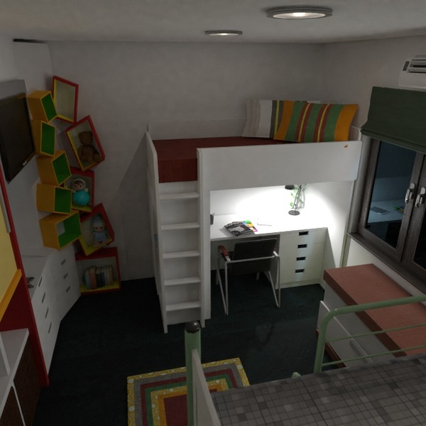 foto camera da letto cameretta studio illuminazione idee