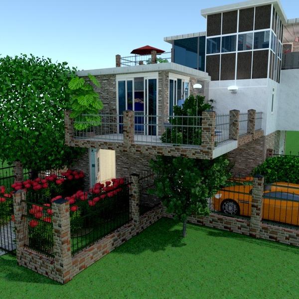 zdjęcia dom taras garaż na zewnątrz krajobraz architektura pomysły