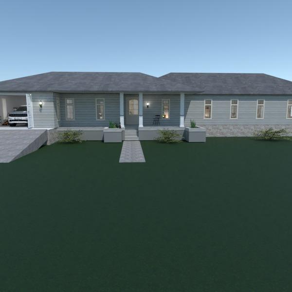 foto casa garage paesaggio idee