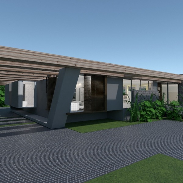 photos maison terrasse décoration extérieur eclairage idées