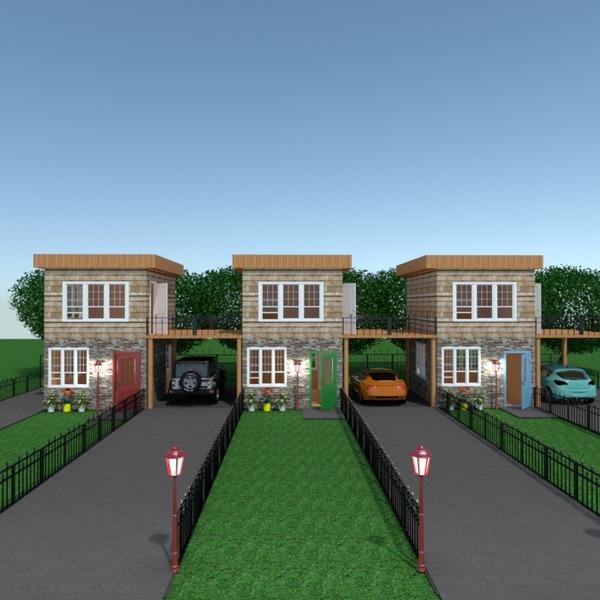 fotos apartamento casa varanda inferior garagem área externa paisagismo arquitetura ideias