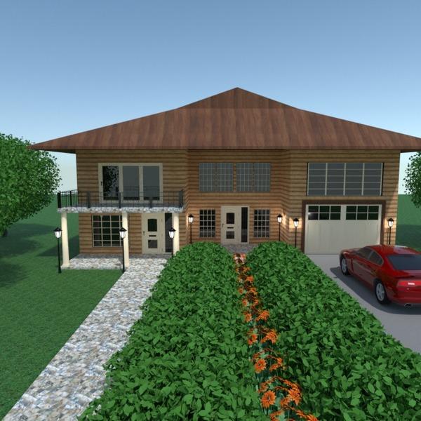 fotos casa terraza garaje iluminación paisaje arquitectura ideas