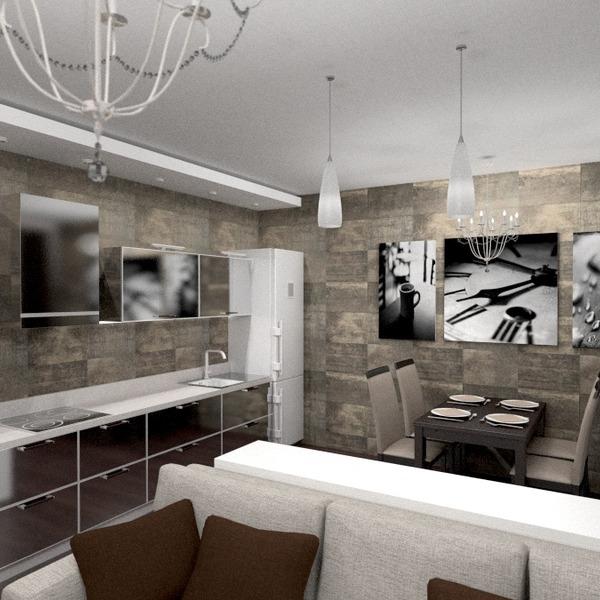 zdjęcia mieszkanie meble wystrój wnętrz pokój dzienny kuchnia oświetlenie remont jadalnia mieszkanie typu studio pomysły