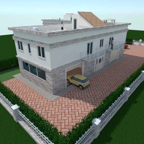 nuotraukos namas garažas eksterjeras apšvietimas аrchitektūra idėjos